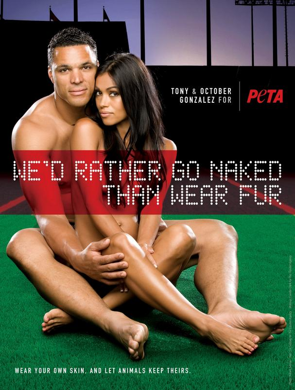 Atlanta Falcons TE Gonzalez PETA ad